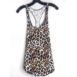 VS Pink Leopard Print Sleep Wear Tank Top NWT